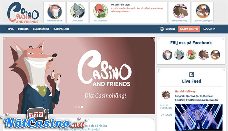 casino & friends nätcasino bonus free spins